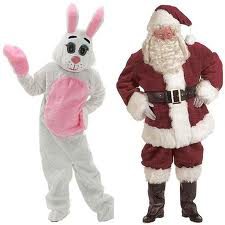 Santa Claus & The Easter Bunny